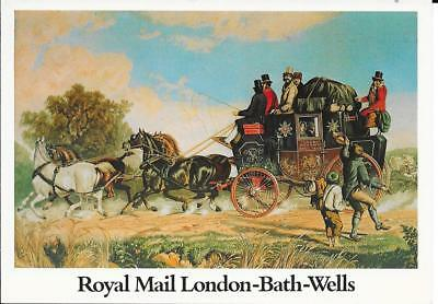 Royal Mail Coach - London-Bath-Wells - Unposted Postcard