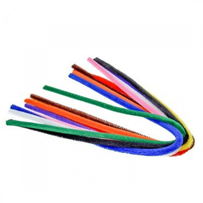 Efco Pipe Cleaners, Assorted Colour, 8 mm/50 cm, 10 -Piece