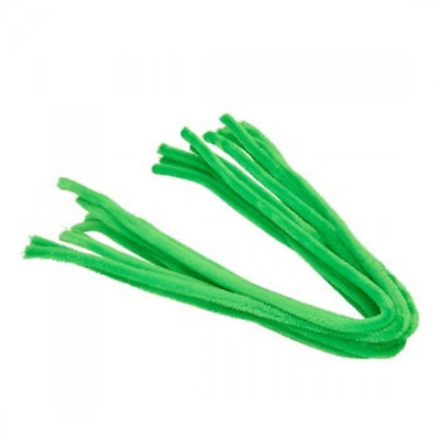Efco Pipe Cleaners, Light Green, 8 mm/50 cm, 10 -Piece