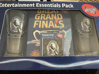 Collingwood Magpies Entertainment Essentials Pack Glasses Grand Final DVD Cards