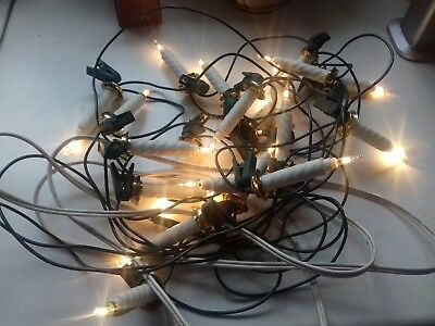 Clip On Christmas Tree Static  Vintage Candle Lights