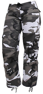 05e57ac6dcf74 Womens Camo Pants City Urban Camouflage Paratrooper Style Fatigues Rothco  3785