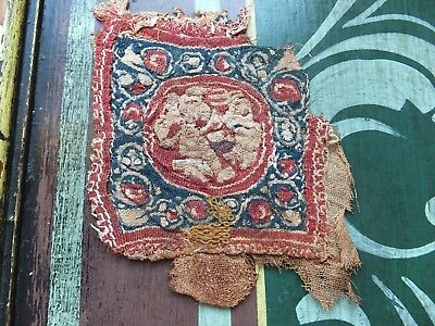 Gp 3 antique textile fragments Coptic antiquities ? Embroidery & weave interest