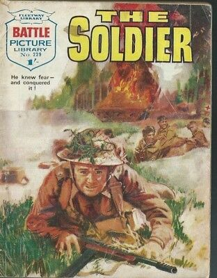 The Soldier,battle Picture Library,no.229,war Comic,1965