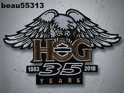 1983-2018 35 YEARS HARLEY DAVIDSON OWNERS GROUP HOG 35th VEST JACKET PATCH