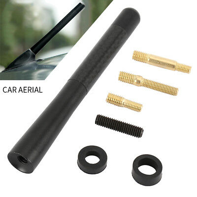 Uk Car Bee-Sting Stubby Short Carbon Fibre Aerial Ariel Arial Mast Antenna New