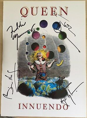 Queen, Innuendo Signed Print,by Mercury,Taylor,May and Deacon,Copy