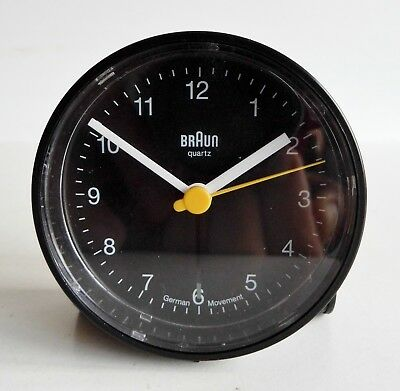 Very Stylish Vintage Braun Alarm Clock - German Movement - Rare Design Classic