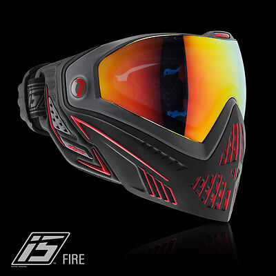 Dye I5 Pro FIRE black red Thermalmaske Paintball Airsoft Softair Goggle 1962