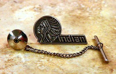 Indian Motorcycle Tie Tack Pin and Chain Clasp