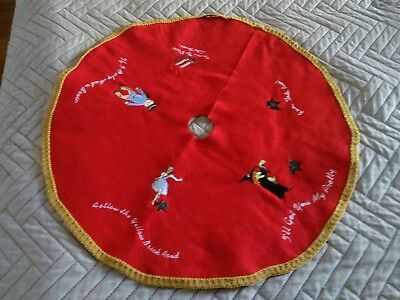 """Cairn Terrier Wizard of Oz Embroidered Christmas Tree Skirt 24"""""""