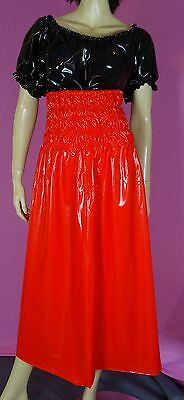mini kleid dress rock skirt vestito gonna rosso  PVC XL adult Neu Diargh