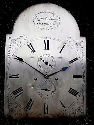 13+18+1/4 inch 8DAY c1800 LONGCASE   CLOCK dial + movement  'Samuel Marks, Cowbr