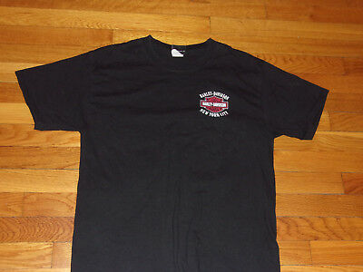 Harley-Davidson New York City Short Sleeve Black T-Shirt Mens Medium Excellent