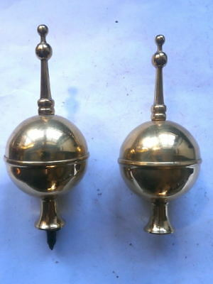 Pair Of Longcase Grandfather Clock Finials