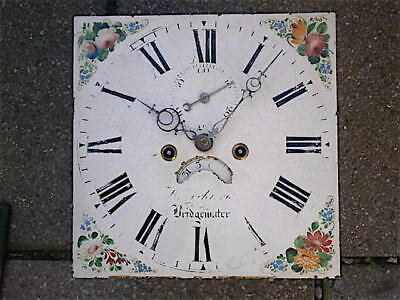 12X12  Bridgwater inch 8DAY  c1810 LONGCASE   CLOCK dial + movement