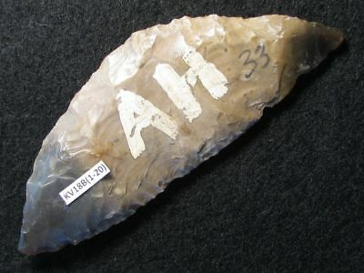 4000Y.O: WONDERFUL SICKLE 104mms DANISH STONE AGE NEOLITHIC DAGGER CULTURE FLINT