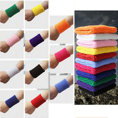 Sport Wristband Cotton Wrist Support Protector Sweatband Gym Tennis Strap