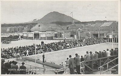 North Berwick Law from Bathing Pond. Old postcard in GC. Unwritten/Unposted