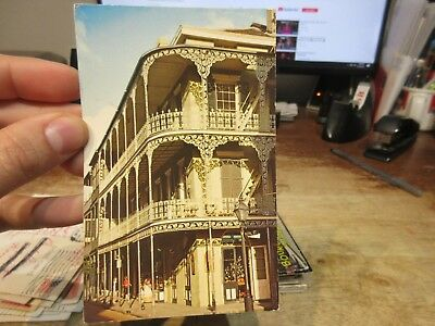 Vintage Old Postcard LOUISIANA New Orleans French Quarter Royal at St. Peter St