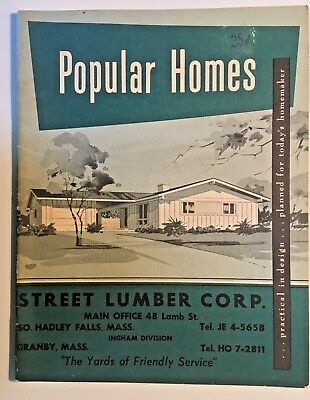 TRADE CATALOG Mid-Century Modern House Plans 1960 Architecture Diagrams & Data