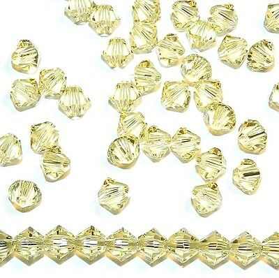 SCB339 Jonquil Yellow 4mm Xilion Faceted Bicone Swarovski Crystal Beads 48pc