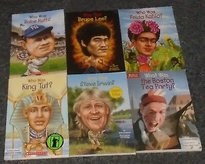 Who Was series LOT OF 6 Biography History NF chapter children's books