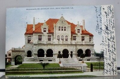 Louisiana LA New Orleans St Charles Ave Residence Postcard Old Vintage Card View
