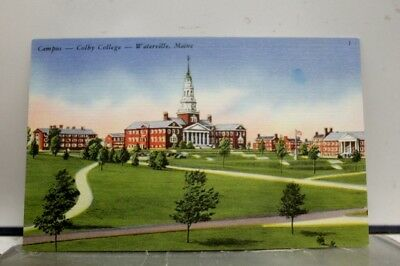 Maine ME Waterville Colby College Campus Postcard Old Vintage Card View Standard