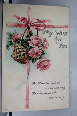 Greetings My Wish for You Mirth Song Postcard Old Vintage Card View Standard PC