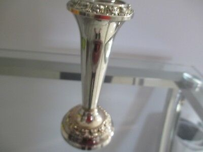 Pretty Little Ianthe Silver Plated Vase - Made In England