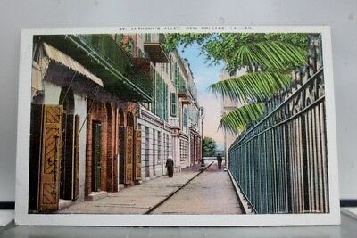 Louisiana LA New Orleans St Anthony Alley Postcard Old Vintage Card View Post PC