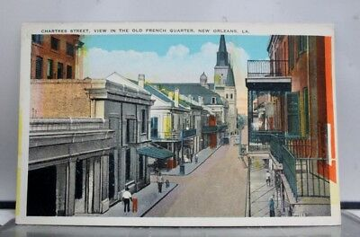 Louisiana LA New Orleans French Quarter Chartres Street Postcard Old Vintage PC