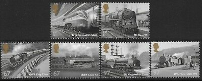 "GB. 2010. ""GREAT BRITISH RAILWAYS"". 1 SET OF 6 STAMPS. MNH. FV 4.62p."