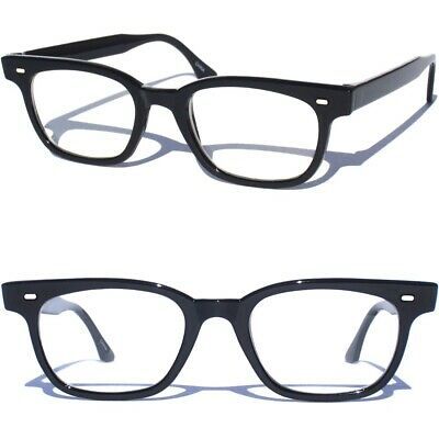 cfe369d3e6 Slim BLACK Frame Smart Glasses NERD TEACHER STUDENT CLEAR LENS Hipster  Fashion