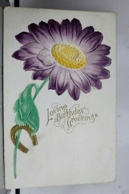 Greetings Loving Birthday Postcard Old Vintage Card View Standard Souvenir Post