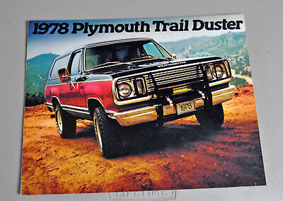 Clean! 1978 Plymouth Trail Duster sales dealer brochure catalog lot 1 2