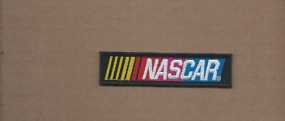 New 1 X 4 Inch Nascar Racing Iron On Patch Free Shipping