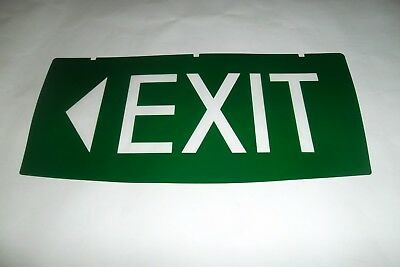 "Emergency Exit Light Exit With LEFT FACING Arrow  Replacement INSERT ONLY ""New"""