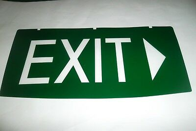 Emergency Exit Light Exit With RIGHT FACING Arrow  Replacement INSERT ONLY New""