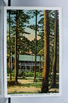 Minnesota MN Douglas Lodge Itasca Park Bemidji Postcard Old Vintage Card View PC