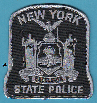 NEW YORK STATE POLICE SHOULDER PATCH  ( SUBDUED - Gray)