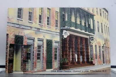 South Carolina SC Dock Street Theater Charleston Postcard Old Vintage Card View