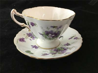 Hammersley Victorian Violets Cup & Saucer Made in England Bone China