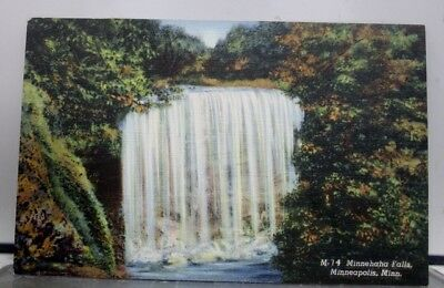 Minnesota MN Minnehaha Falls Minneapolis Postcard Old Vintage Card View Standard