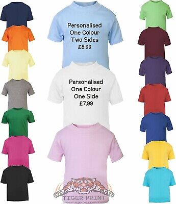 Baby/Toddler T Shirt Plain Or Personalised Sizes 0-24 Months 1 or 2 colour print