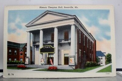 Missouri MO Thespian Hall Boonville Postcard Old Vintage Card View Standard Post