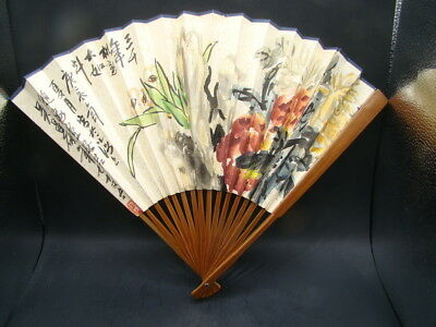 Chinese 1920's nice hand painted fan   s5835