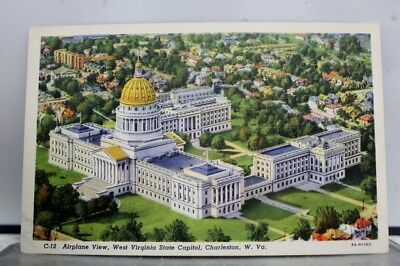 West Virginia WV State Capitol Charleston Postcard Old Vintage Card View Post PC