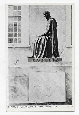 ST. MARTINVILLE LOUISIANA Statue Of EVANGELINE Unposted Post Card #3709